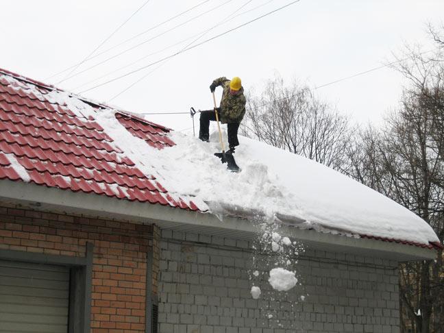 Статьи очистка снега с крыш